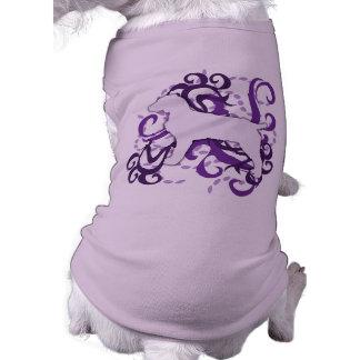 Perro de aguas púrpura de Boykin del remolino Camisetas De Perrito