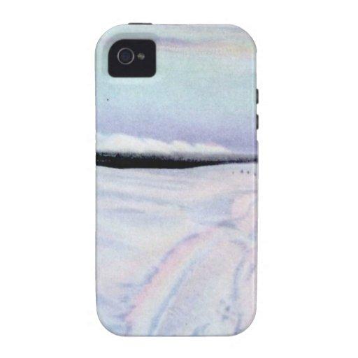 Perro de Alaska Sleddiing en el Yukón-Koyukuk Vibe iPhone 4 Fundas