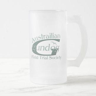 Perro de arma de Austrailian Jarra De Cerveza Esmerilada