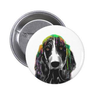 PERRO de BASSET HOUND - botón Pin Redondo De 2 Pulgadas