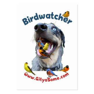 Perro de Birdwatcher Tarjetas De Visita