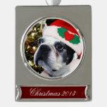 Perro de Boston Terrier del navidad