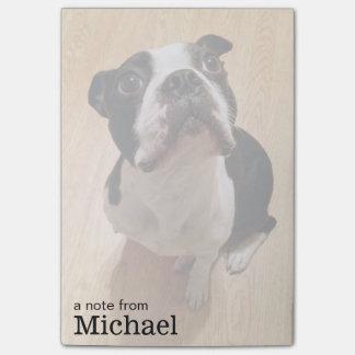 Perro de Boston Terrier Post-it® Nota