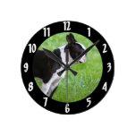 Perro de Boston Terrier Relojes De Pared