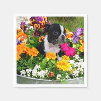 Perro de Boston Terrier Servilleta De Papel