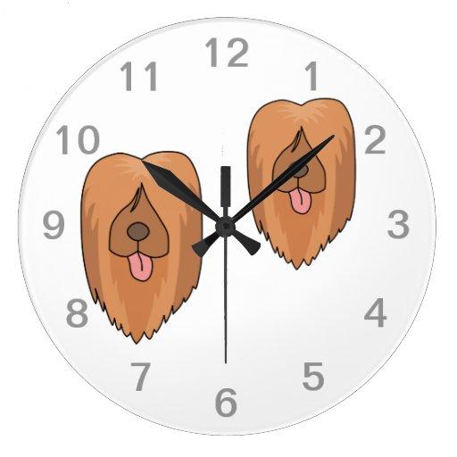 Perro de Briard Relojes De Pared