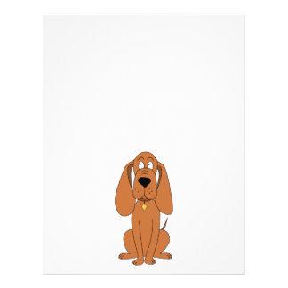 """Perro de Brown. Dibujo animado del perro con el cu Folleto 8.5"""" X 11"""""""