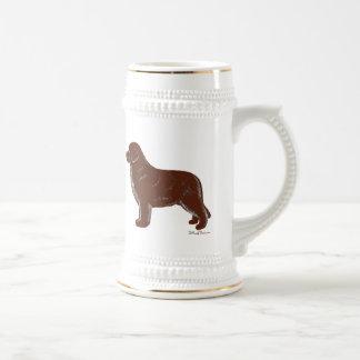 Perro de Brown Terranova Jarra De Cerveza