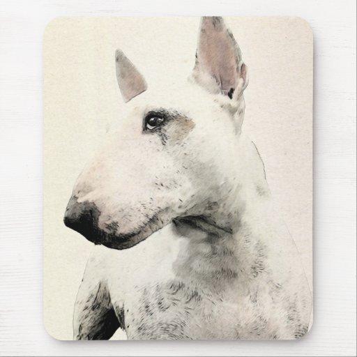 Perro de bull terrier del inglés mousepad
