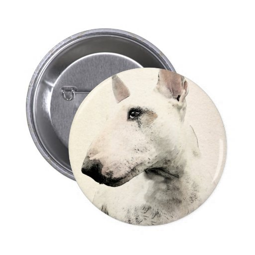 Perro de bull terrier del inglés pin redondo 5 cm