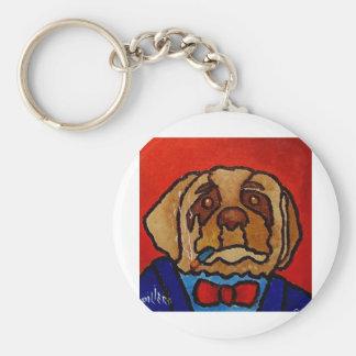 Perro de Butchie por Piliero Llavero Redondo Tipo Pin