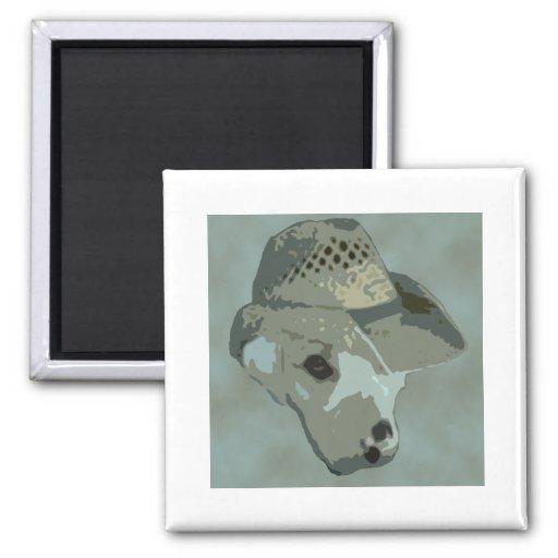 Perro de Camo en gorra Imán