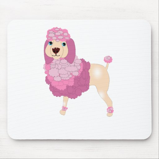 Perro de caniche francés lindo tapete de raton