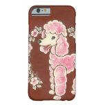 Perro de caniche rosado femenino lindo funda de iPhone 6 barely there