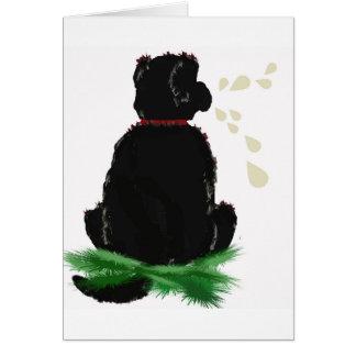 Perro de Card~ Terranova del cumpleaños Tarjetas