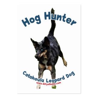 Perro de Catahoula del cazador del cerdo Tarjetas De Negocios