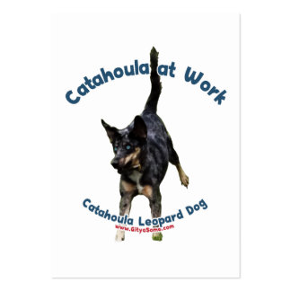 Perro de Catahoula en el trabajo Tarjetas Personales