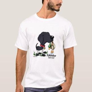 Perro de caza - camiseta negra del labrador