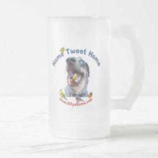 Perro de caza casero del hogar del pío taza de cristal