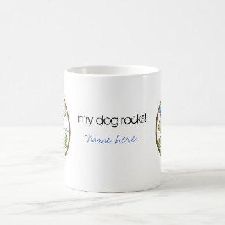 Perro de caza - círculo taza de café