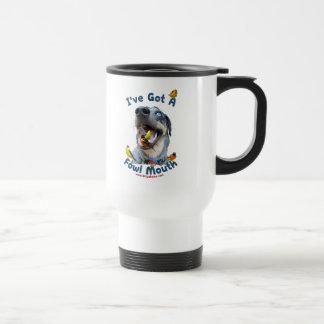 Perro de caza de la boca de las aves tazas de café