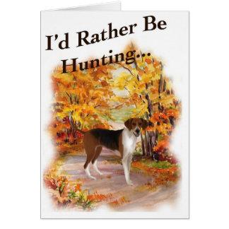 perro de caza de la caza tarjeta de felicitación