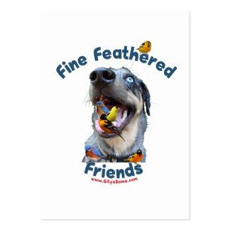 Perro de caza emplumado multa de los amigos plantillas de tarjetas personales