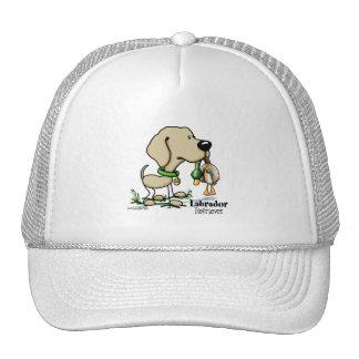 Perro de caza - gorra amarillo del labrador retrie