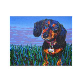 Perro de chile impresión en lienzo