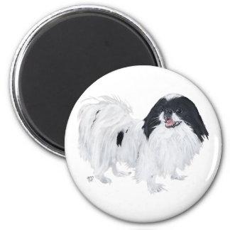 Perro de Chin del japonés Imán Redondo 5 Cm