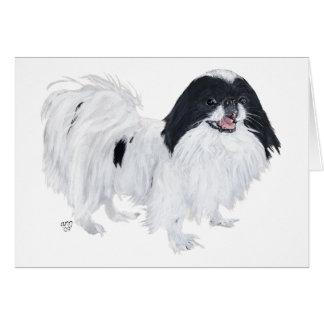Perro de Chin del japonés Tarjeta De Felicitación