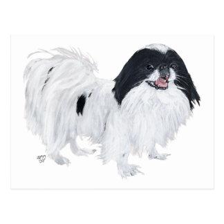 Perro de Chin del japonés Tarjetas Postales