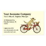 Perro de ciclo con el amigo de la ardilla - arte c tarjetas de visita