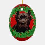 Perro de Corso del bastón del navidad Adorno Para Reyes