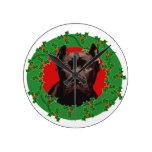 Perro de Corso del bastón del navidad Relojes