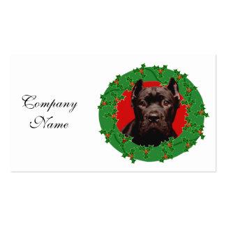 Perro de Corso del bastón del navidad Tarjetas De Visita