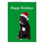 Perro de Corso del bastón en tarjeta de Navidad