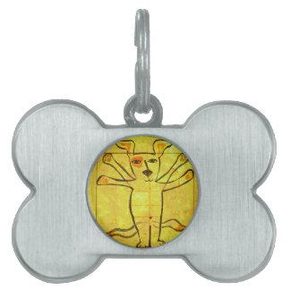 Perro de da Vinci Placa Mascota