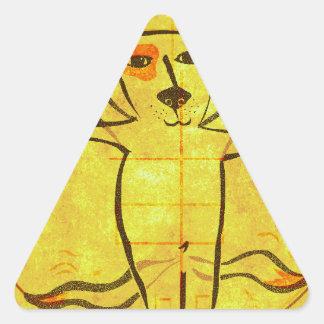 Perro de da Vinci Pegatina Triangulo Personalizadas