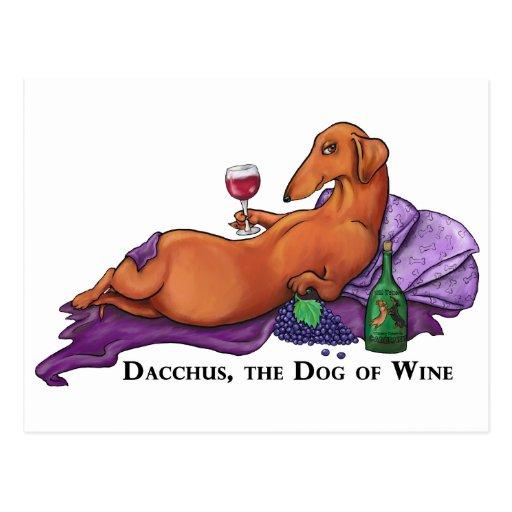 Perro de Dacchus del vino Tarjetas Postales
