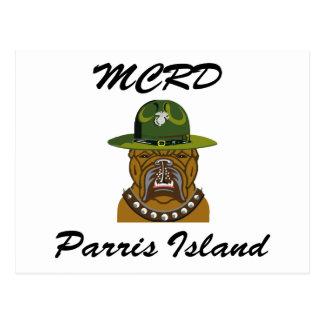 Perro de diablo de la isla de MCRD Parris Postales