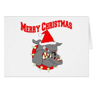 Perro de diablo del USMC de las Felices Navidad Tarjeta De Felicitación