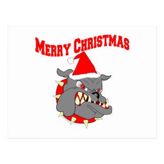 Perro de diablo del USMC de las Felices Navidad Tarjetas Postales