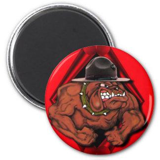 Perro de diablo del USMC Imán Redondo 5 Cm