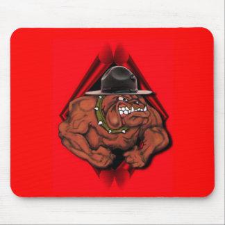 Perro de diablo del USMC Mouse Pads