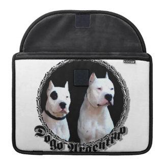 Perro de Dogo Argentino Funda Macbook Pro