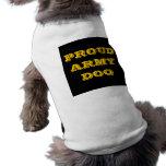 Perro de ejército orgulloso de la ropa del mascota camiseta de perro