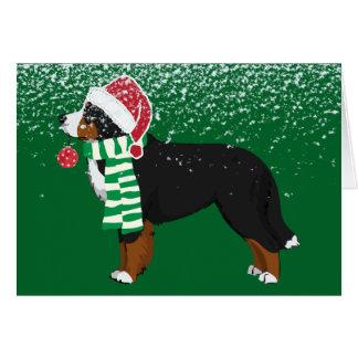 Perro de encargo del día de fiesta de la montaña tarjeta de felicitación