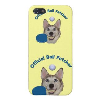 Perro de Fetcher de la bola de ping-pong iPhone 5 Protector