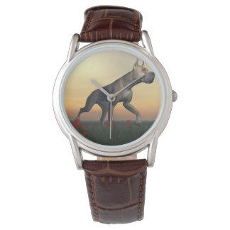 Perro de great dane relojes de pulsera